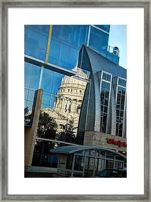 Reflections Of The Capitol Framed Print