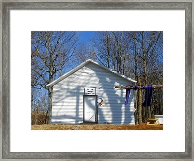 Reflections Of The Cross Framed Print