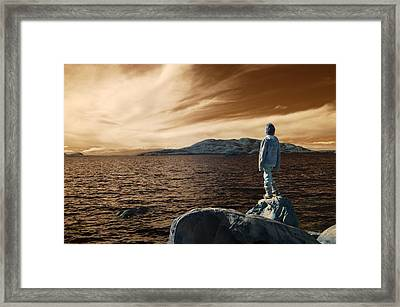 Framed Print featuring the photograph Reflections Of The Day by Rebecca Parker