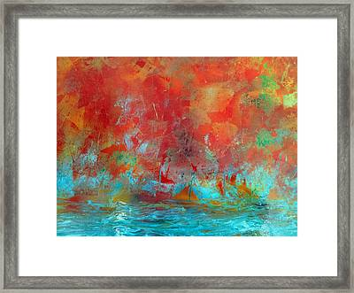 Reflections Of The Fall Framed Print
