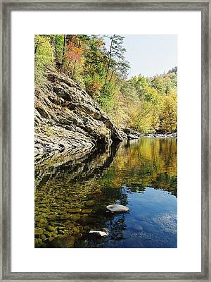 Reflections Of The  Framed Print by John Saunders
