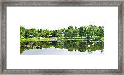 Reflections Of The Landing Framed Print