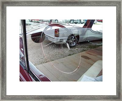 Reflections Of The Present In The Past Framed Print by Randy Stamper