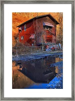 Reflections Of Thurmond West Virgina Framed Print