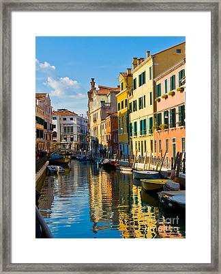 Reflections Of Venice II Framed Print by Sheila Laurens
