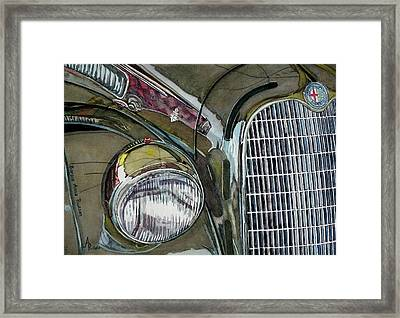 Framed Print featuring the painting Reflections On 1931 Alfa Romeo Milano by Anna Ruzsan