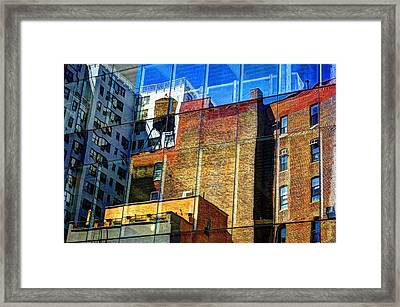 Reflections On 9th Street Framed Print