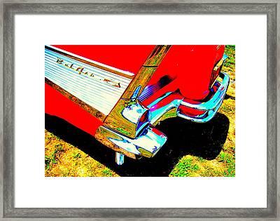 Reflections On A Chevrolet Bel Air Framed Print by Don Struke