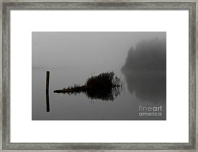 Reflections On A Lake Framed Print by Rich Collins