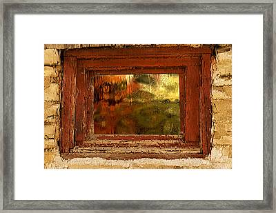 Reflections On A Rainy Day Framed Print