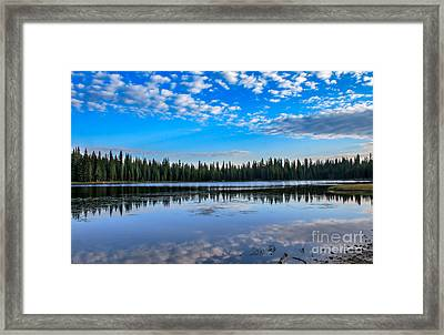 Reflections On Anthony Lake Framed Print