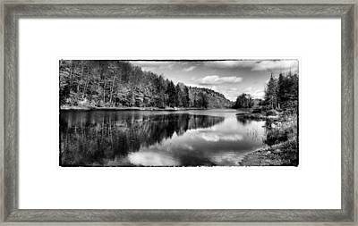 Reflections On Bald Mountain Pond Framed Print by David Patterson