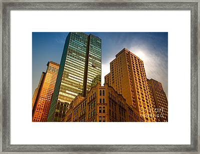 Reflections On Buildings Nyc Framed Print