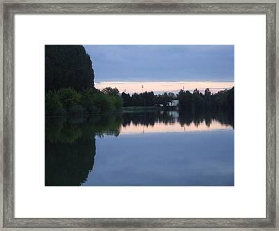Reflections On La Saone Framed Print
