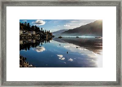 Reflections On Loch Goil Scotland Framed Print by Lynn Bolt