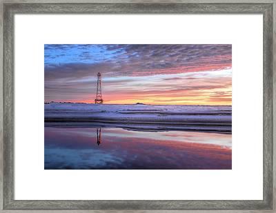 Reflections On Pensacola Bay Framed Print