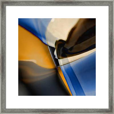 Reflections On Porsche No. 1 Framed Print by Carol Leigh