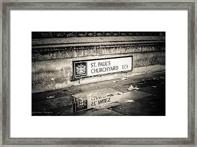 Reflections On St. Paul's Churchyard Framed Print