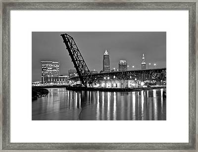 Reflections On The Cuyahoga Framed Print by Frozen in Time Fine Art Photography