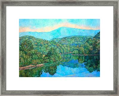 Reflections On The James River Framed Print by Kendall Kessler