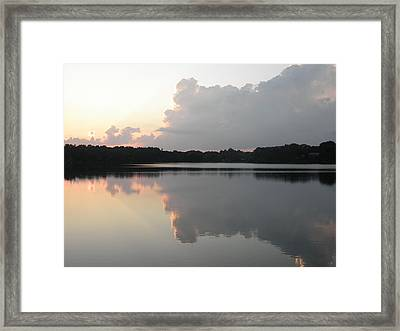 Reflections On The Pond Framed Print by Kate Gallagher