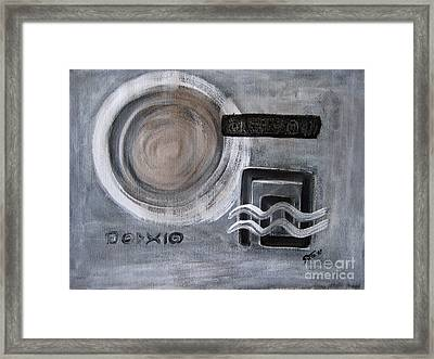 Reflections On Time 1 Framed Print by Eva-Maria Becker