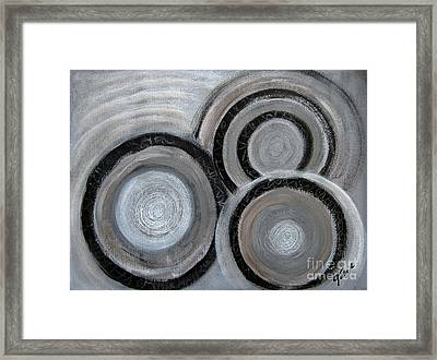 Reflections On Time 4 Framed Print by Eva-Maria Becker