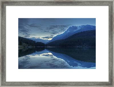 Reflections On Two Jack Lake Framed Print