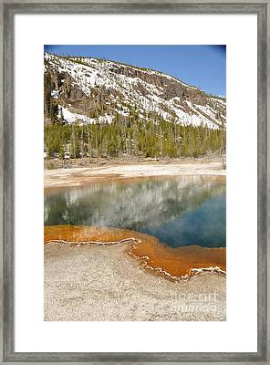 Reflections On Yellowstone Framed Print by Birches Photography