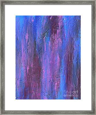 Framed Print featuring the painting Reflections by Roz Abellera Art