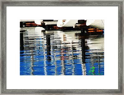 Reflections Sausalito California Framed Print