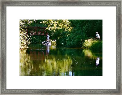 Reflections Framed Print by Susan Crossman Buscho