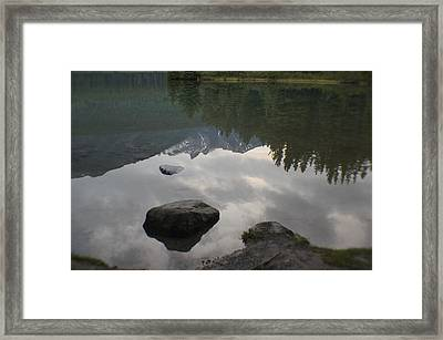 Reflections Two Jacks Lake Framed Print