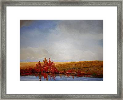 Framed Print featuring the painting Reflections by William Renzulli