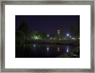 Reflective Calm Framed Print by Dan Quam