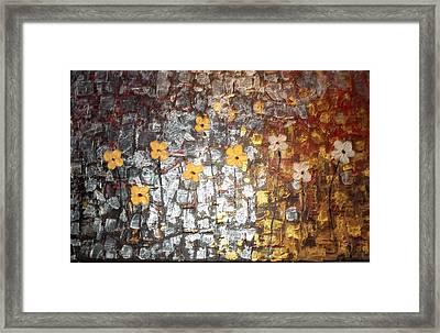Reflective Floral Friends Framed Print