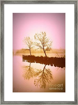 Framed Print featuring the photograph Reflective Glow by Julie Lueders