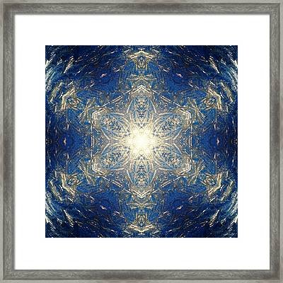 Reflective Ice I Framed Print