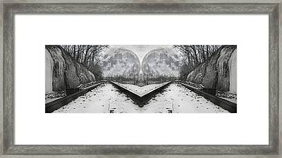 Reflective Journey Framed Print by Betsy Knapp