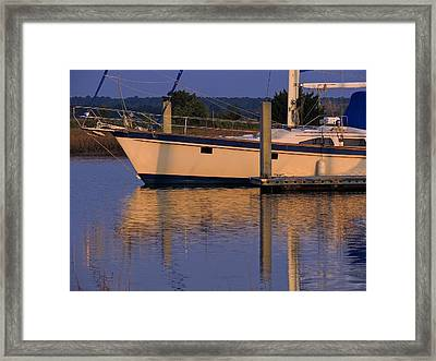 Framed Print featuring the photograph Reflective Mood by Laura Ragland