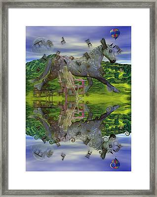 Reflective Oz Framed Print