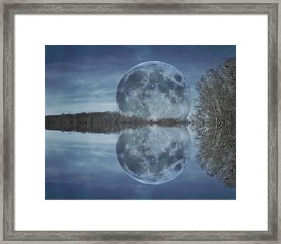 Reflective Paradise Framed Print by Betsy Knapp