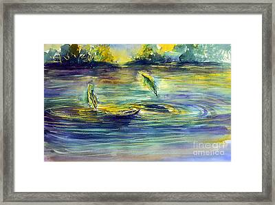 Reflective Ripples Framed Print