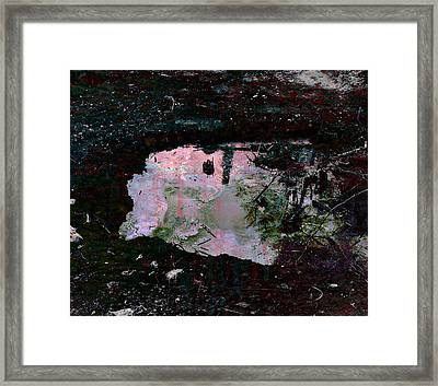 Reflective Skylight On A Small Pond Of Water # 1 Framed Print by Miguel Conesa Osuna