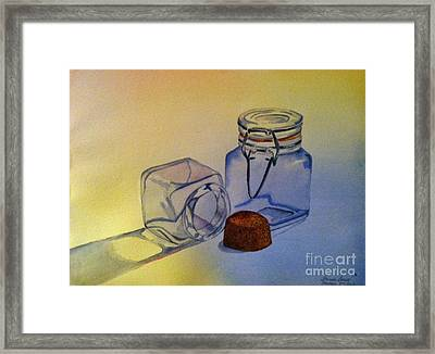 Reflective Still Life Jars Framed Print by Brenda Brown