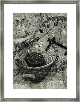 Reflective Time Framed Print by Samantha Stutzman
