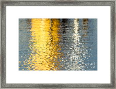 Reflective Water Colors Framed Print by Kelly Morvant