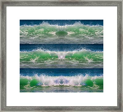 Reflective Wave Sequence Framed Print by Betsy Knapp