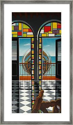 Reflejo De Un Sillon Framed Print