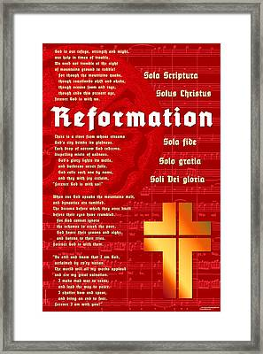 Framed Print featuring the digital art Reformation by Chuck Mountain
